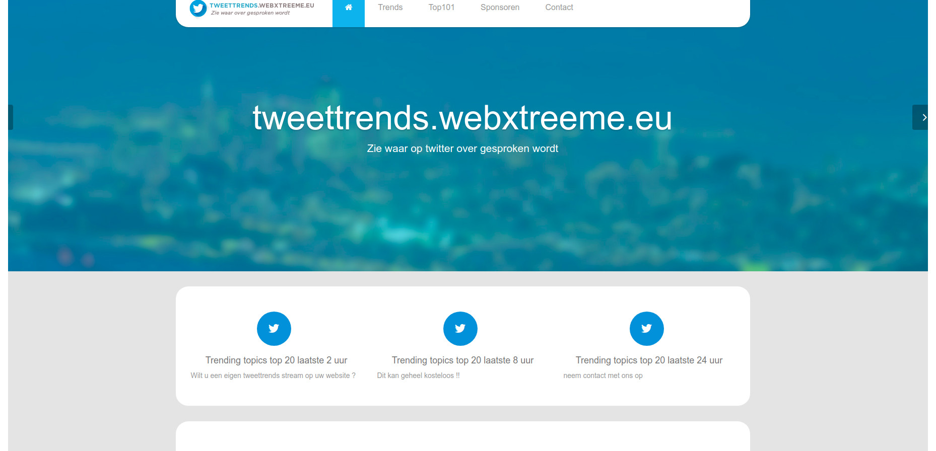 screenshot www.tweettrends.webxtreeme.eu